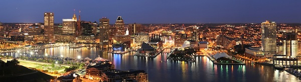 Baltimore at night