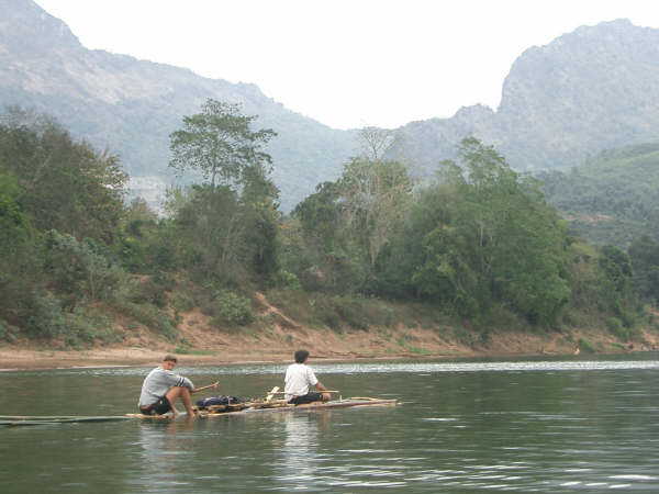 Brad Olsen and Bruce Northam 'conquering' the River Ou in Northern Laos